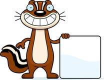 Sinal do esquilo dos desenhos animados Foto de Stock