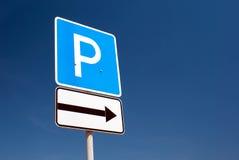 Sinal do estacionamento foto de stock