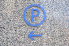 Sinal do estacionamento imagens de stock royalty free
