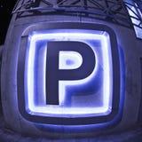 Sinal do estacionamento imagem de stock