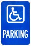 Sinal do estacionamento da desvantagem Fotos de Stock Royalty Free
