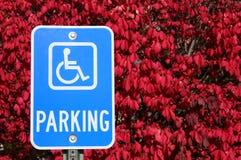 Sinal do estacionamento da desvantagem foto de stock royalty free
