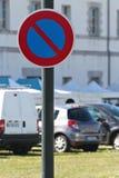 Sinal do estacionamento da proibição Imagem de Stock Royalty Free