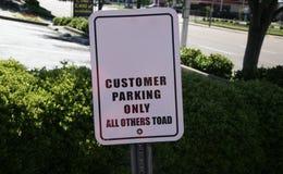 Sinal do estacionamento do erro de soletração Fotos de Stock Royalty Free