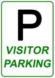 Sinal do estacionamento do visitante Fotos de Stock Royalty Free
