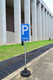 Sinal do estacionamento do visitante Fotografia de Stock Royalty Free