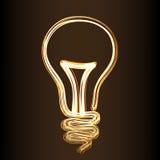 sinal do estilo da Fogo-mostra da lâmpada Fotos de Stock Royalty Free