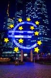 Sinal do Euro Imagens de Stock