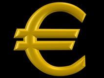 sinal do euro 3D Imagem de Stock Royalty Free