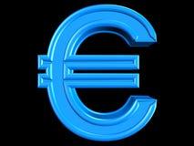 sinal do euro 3d Foto de Stock