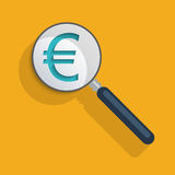 Sinal do Euro ilustração royalty free