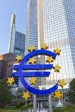 Sinal do Euro Imagens de Stock Royalty Free