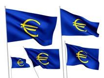 Sinal do Euro - bandeiras do vetor Fotos de Stock