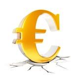 sinal do euro 3D Fotografia de Stock