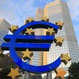Sinal do Euro - foto conservada em estoque Imagem de Stock Royalty Free