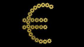 Sinal do Euro no preto ilustração do vetor