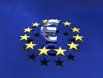 Sinal do Europa Fotografia de Stock