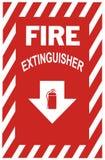 Sinal do extintor de incêndio Fotografia de Stock