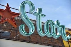 Sinal do famoso da estrela Fotos de Stock