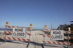 Sinal do fechamento da estrada Imagens de Stock