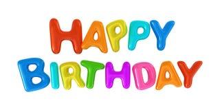 Sinal do feliz aniversario Imagens de Stock