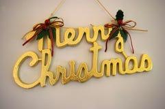 Sinal do Feliz Natal Foto de Stock Royalty Free