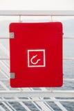 Sinal do Fireplug em um navio Imagens de Stock