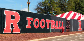 Sinal do futebol de Rutgers Fotos de Stock Royalty Free