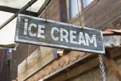 Sinal do gelado Imagens de Stock