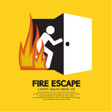 Sinal do gráfico do escape de fogo Fotos de Stock