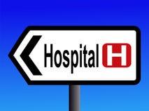 Sinal do hospital ilustração royalty free