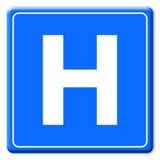 sinal do hospital Foto de Stock