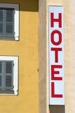 Sinal do hotel Foto de Stock