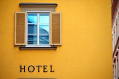Sinal do hotel Fotos de Stock