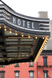 Sinal do hotel com luzes Fotos de Stock Royalty Free