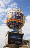 Sinal do hotel de Las Vegas, Paris fotografia de stock