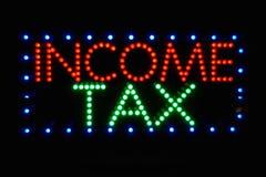 Sinal do imposto de renda Imagem de Stock