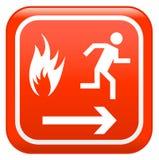 Sinal do incêndio vermelho ilustração royalty free