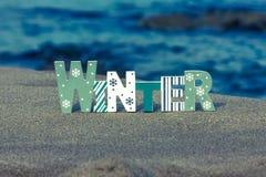 Sinal do inverno Foto de Stock Royalty Free