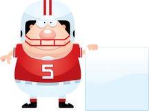 Sinal do jogador de futebol dos desenhos animados Foto de Stock