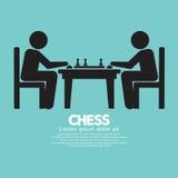 Sinal do jogador de xadrez ilustração royalty free