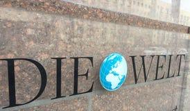 Sinal do jornal de Die Welt Imagem de Stock