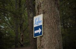 Sinal do lago Foto de Stock Royalty Free