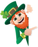 Sinal do Leprechaun Foto de Stock Royalty Free