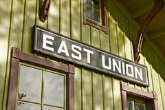 Sinal do leste da união Foto de Stock Royalty Free