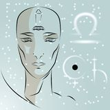 Sinal do libra do zodíaco ilustração do vetor
