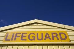 Sinal do Lifeguard Fotografia de Stock