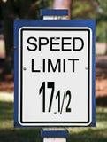 Sinal do limite de velocidade Fotos de Stock
