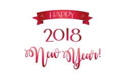 2018 sinal do logotipo, anos novos felizes do cartão ilustração royalty free