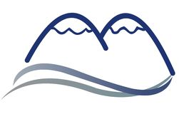 Sinal do logotipo da montanha Foto de Stock